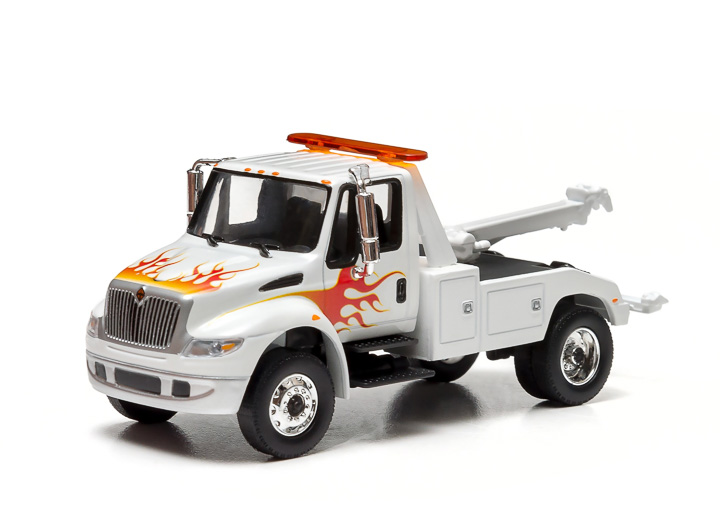 White Cab with Flames