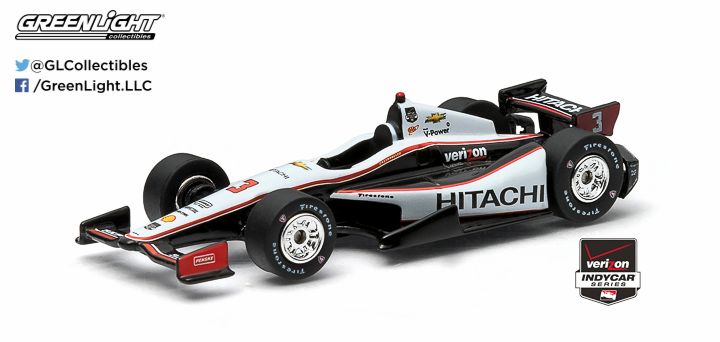 10739 - 1:64 2015 #3 Helio Castroneves / Penske Racing, Hitachi - 2015 #3 Helio Castroneves / Penske Racing, Hitachi