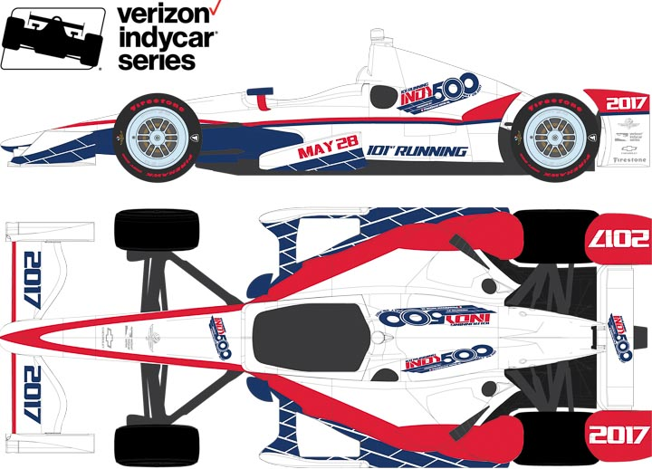 10771 - 1:64 2017 101st Running of the Indianapolis 500 Event Car