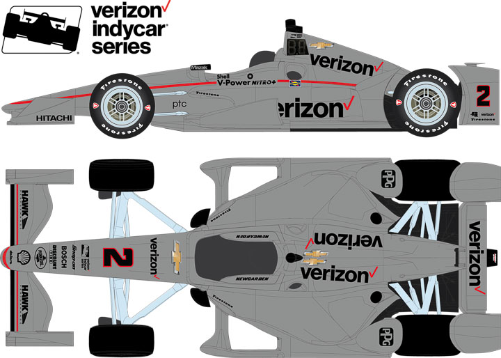 10773 - 1:64 2017 #2 Josef Newgarden / Penske Racing, Verizon