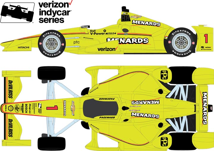10777 - 1:64 2017 #1 Simon Pagenaud / Penske Racing, Menards