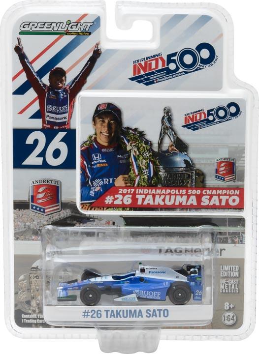 1:64 2017 #26 Takuma Sato / Andretti Autosport, Ruoff Home Mortgage / 2017 Indianapolis 500 Champion