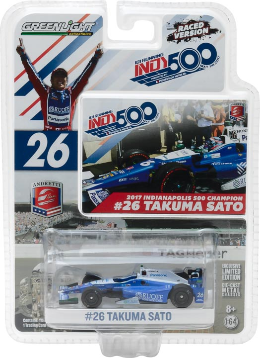 1:64 2017 #26 Takuma Sato / Andretti Autosport, Ruoff Home Mortgage / 2017 Indianapolis 500 Champion - Raced Version