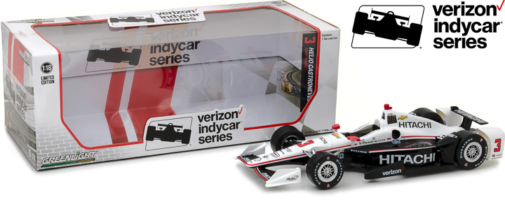 1:18 2017 #3 Helio Castroneves / Penske Racing, Hitachi