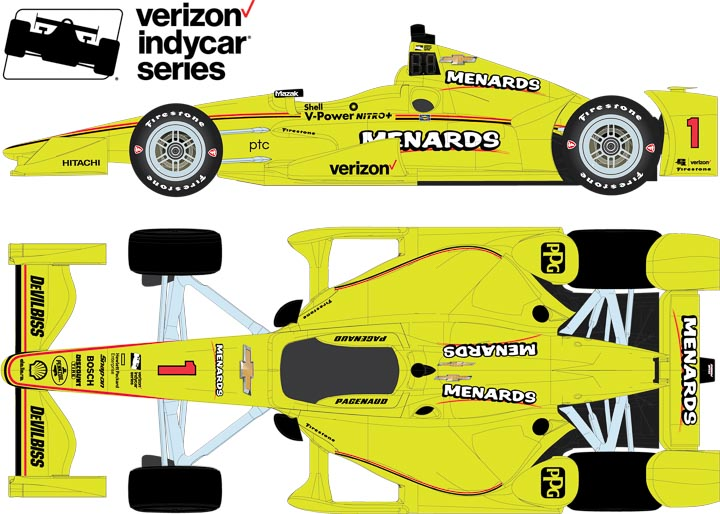 1:18 2017 #1 Simon Pagenaud / Penske Racing, Menards