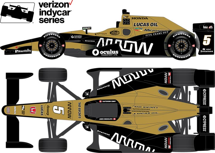 11007 - 1:18 2017 #5 James Hinchcliffe / Schmidt Peterson Motorsports, Arrow