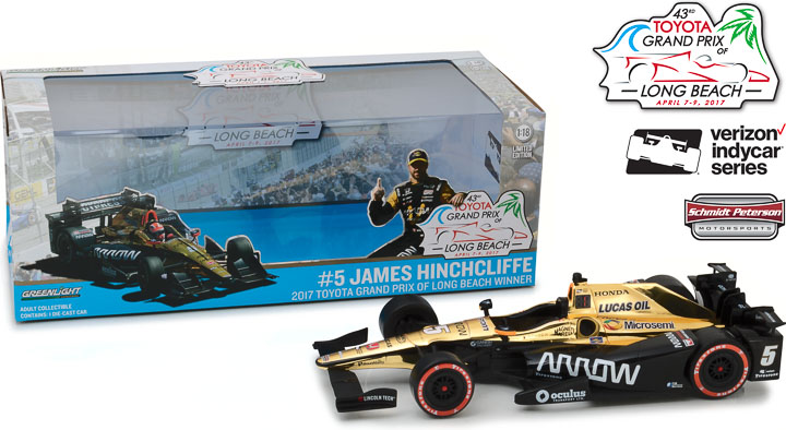 1:18 2017 #5 James Hinchcliffe / Schmidt Peterson Motorsports, Arrow 2017 Toyota Grand Prix of Long Beach Winner Car