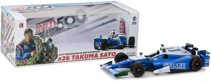 1:18 2017 #26 Takuma Sato / Andretti Autosport, Ruoff Home Mortgage / 2017 Indianapolis 500 Champion
