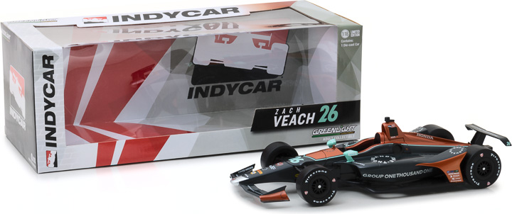 11025 - 1:18 2018 #26 Zach Veach / Andretti Autosport, Group One Thousand One