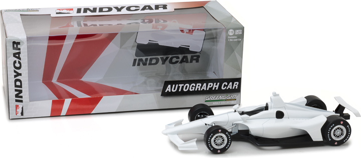 11034 - 1:18 2018 White Autograph IndyCar (New Dallara Universal Aero Kit Tooling)