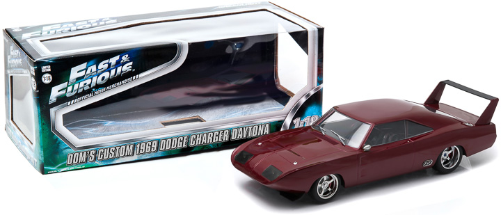 12800-BB - 1:18 Fast & Furious 6 (2013) 1969 Dodge Charger Daytona Custom (Window Box)