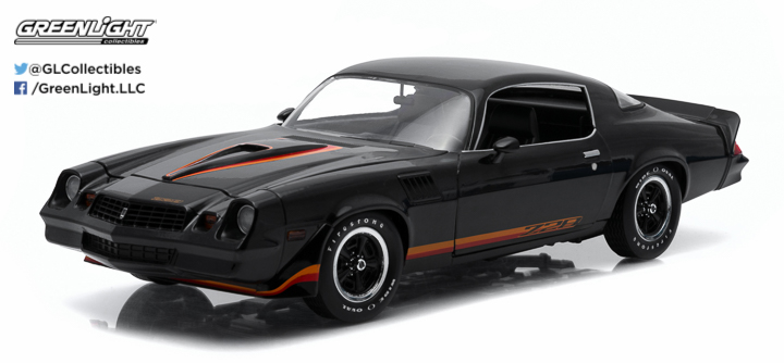 1:18 1979 Chevy Camaro Z/28 - Black with Black Interior (Hardtop)