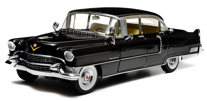 1:18 1955 Cadillac Fleetwood Series 60 - Black
