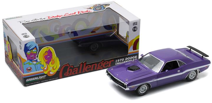 1:18 1970 Dodge Challenger HEMI Shaker R/T - Plum Crazy Purple