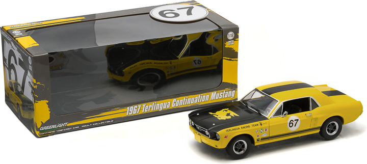 1:18 1967 Ford Terlingua Continuation Mustang #67 Jerry Titus & Ken Miles - Racing Tribute E