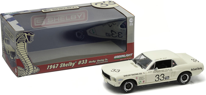 1:18 1967 Shelby #33 Shelby Racing Co. Jerry Titus & John McComb - Racing Tribute Edition
