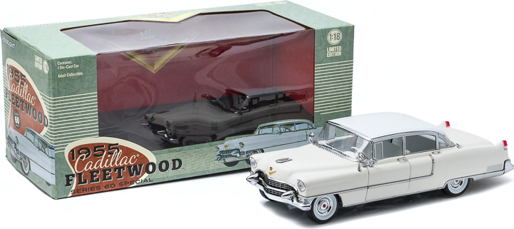 1:18 1955 Cadillac Fleetwood Series 60 - White