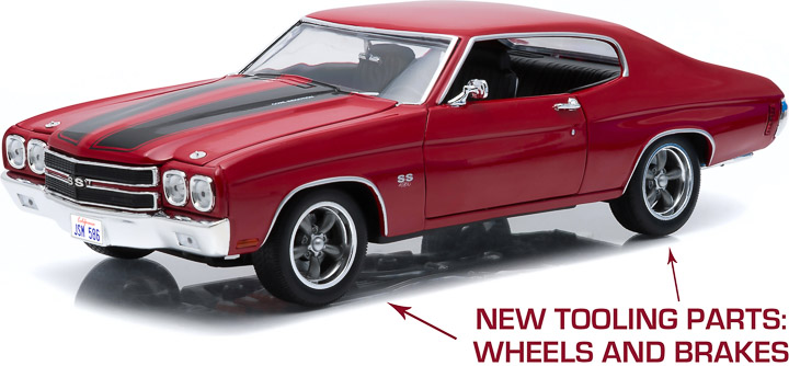 1:18 Fast and Furious (2009) - 1970 Chevy Chevelle SS - Red with Black Stripes