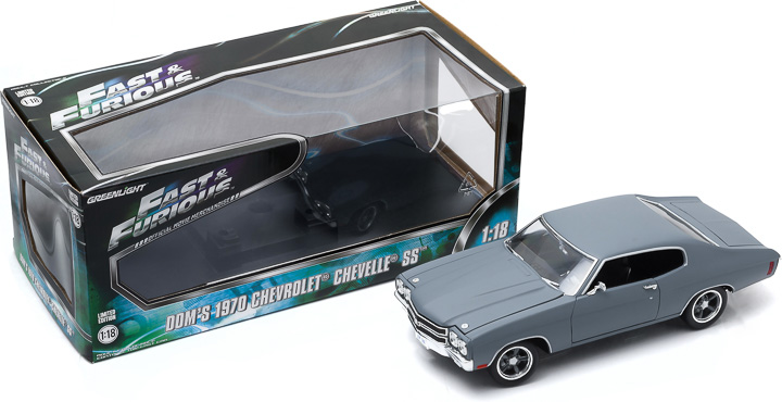 1:18 Fast and Furious (2009) - 1970 Chevy Chevelle SS - Primer Grey