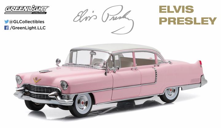 12950 - 1:18 Elvis Presley (1935-77) - 1955 Cadillac Fleetwood Series 60 Pink Cadillac