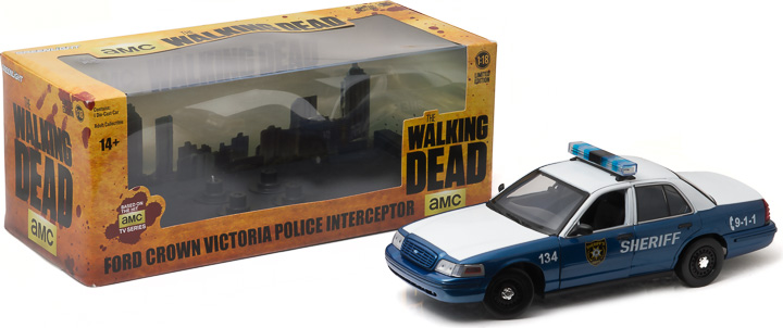 1:18 The Walking Dead (2010-Current TV Series) - Rick and Shane's 2001 Ford Crown Victoria Police Interceptor