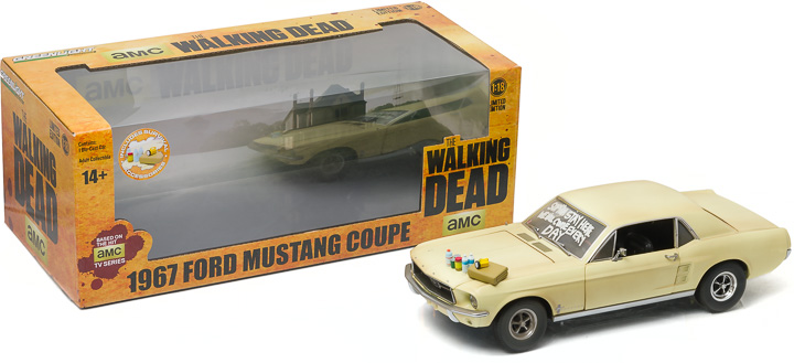 1:18 The Walking Dead (2010-Current TV Series) - 1967 Ford Mustang Coupe 'Sophia Message Car' with Hood Accessories