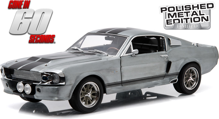"1:18 1967 Ford Mustang ""Eleanor"" - Polished Metal Limited Edition"