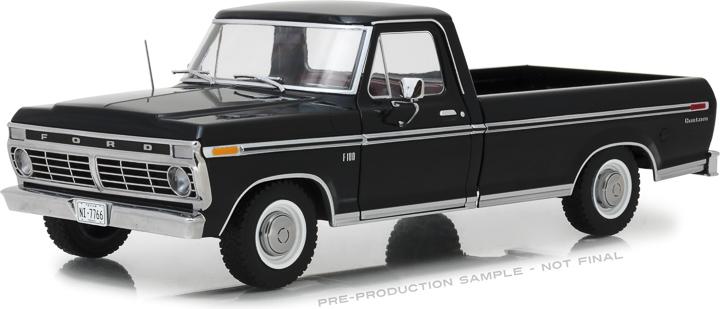12963 - 1:18 1973 Ford F-100 - Black