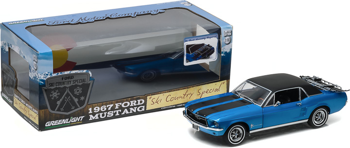 1:18 1967 Ford Mustang Coupe 'Ski Country Special' - Vail Blue