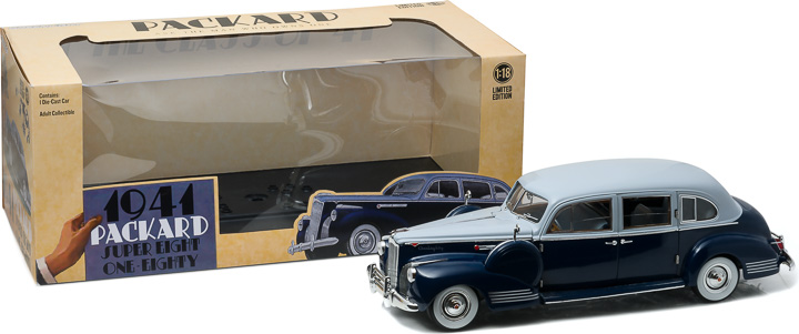 1:18 1941 Packard Super Eight One-Eighty - Silver French Gray Metallic Duco & Barola Blue