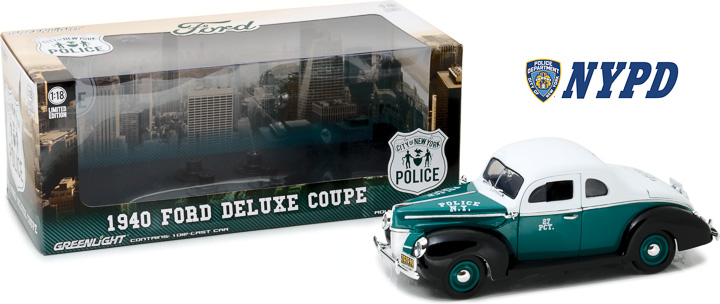 1:18 1940 Ford Deluxe Coupe New York City Police Department (NYPD)
