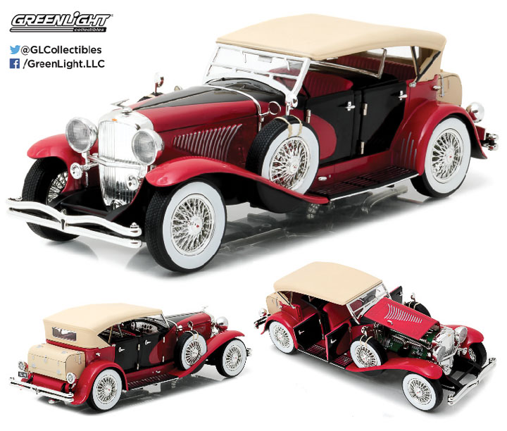 12995 - 1:18 Duesenberg II SJ - Red and Black