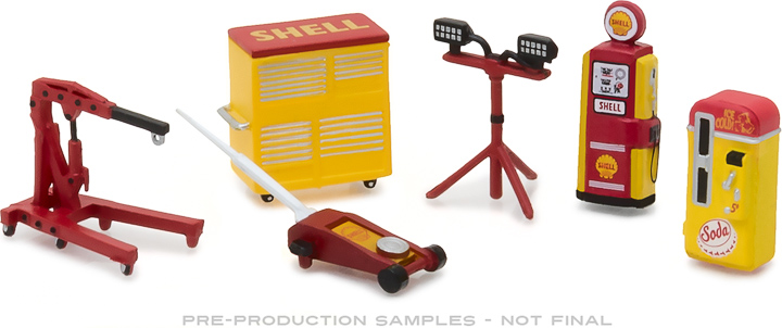 13158 - 1:64 GL Muscle Shop Tools Shell Oil Series 2