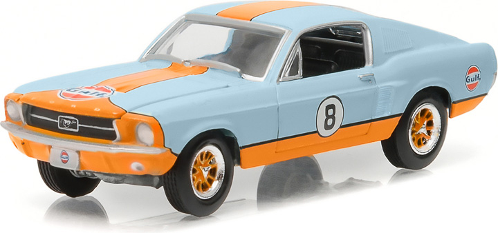 13160-A - 1:64 GL Muscle Series 16 - 1967 Custom Gulf Oil Ford Mustang