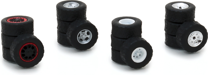 13162 - 1:64 All-Terrain Wheel & Tire Pack