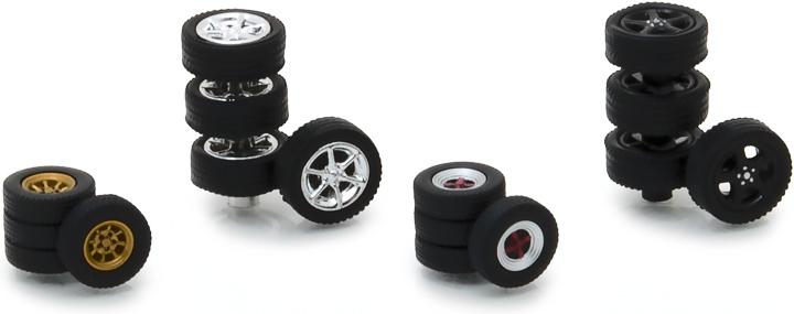 13163 - 1:64 Tokyo Torque Wheel & Tire Pack