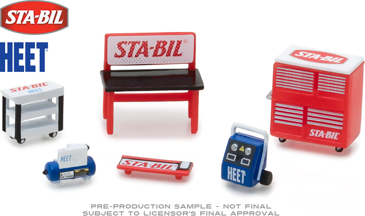 13165 - 1:64 GL Muscle Shop Tools STA-BIL & HEET