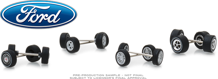 13166 - 1:64 Ford Wheel & Tire Pack - 16 Wheels, 16 Tires, 8 Axles
