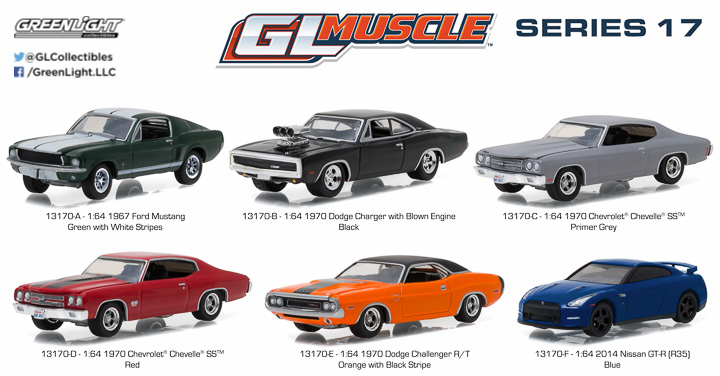 Gl Muscle Series Group Pblast on 1968 Dodge Charger Rt Vs 1970 Plymouth Cuda