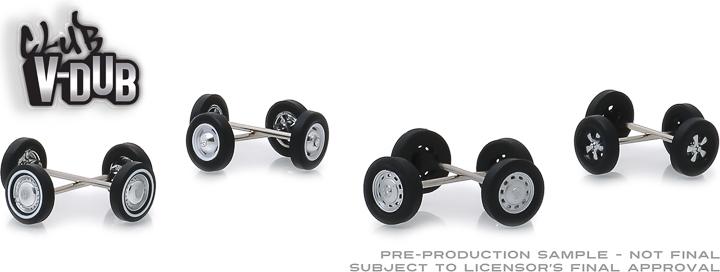 13172 - 1:64 Club Vee-Dub Wheel & Tire Pack