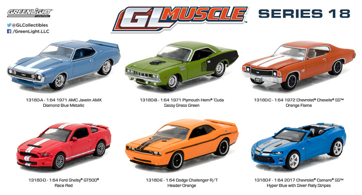13180 -- 1:64 GreenLight Muscle Series 18