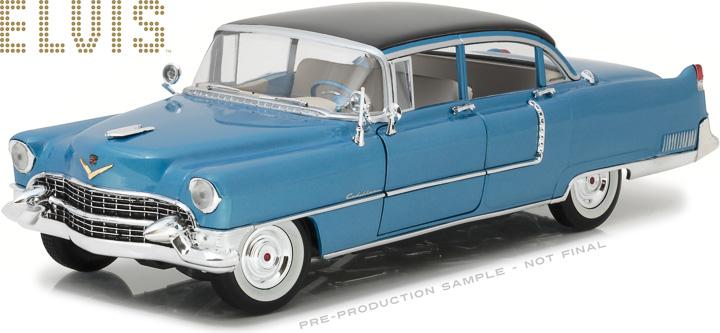 13502 - 1:18 Elvis Presley (1935-77) - 1955 Cadillac Fleetwood Series 60 Blue Cadillac