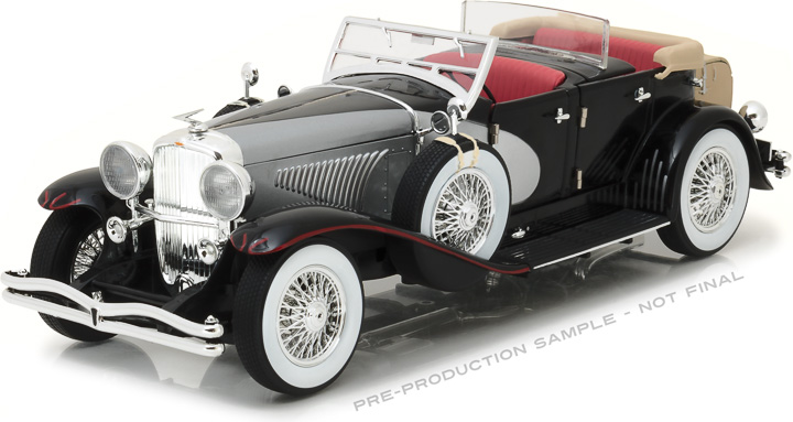 13504 – 1:18 Duesenberg II SJ - Silver and Black