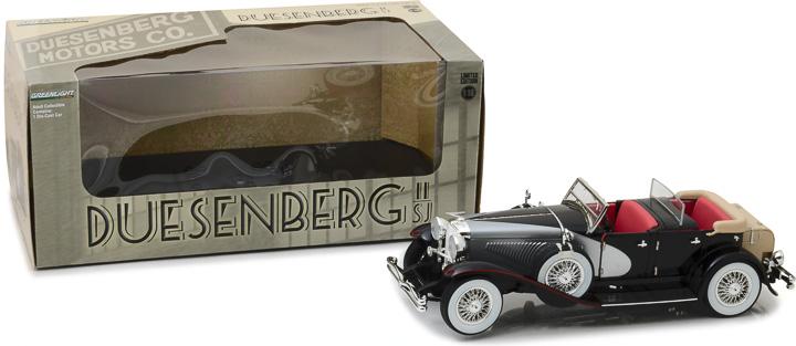 13504 – 1:18 Duesenberg II SJ - Silver and Black