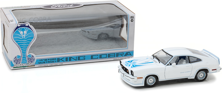 13508 - 1:18 1978 Ford Mustang II King Cobra - White and Blue