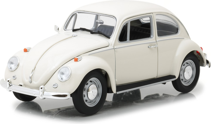13510 - 1:18 1967 Volkswagen Beetle Right-Hand Drive - Lotus White