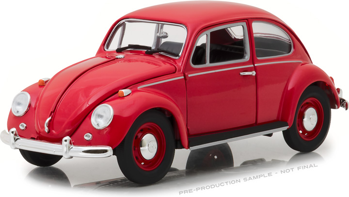 13511 - 1:18 1967 Volkswagen Beetle Right-Hand Drive - Candy Apple Red