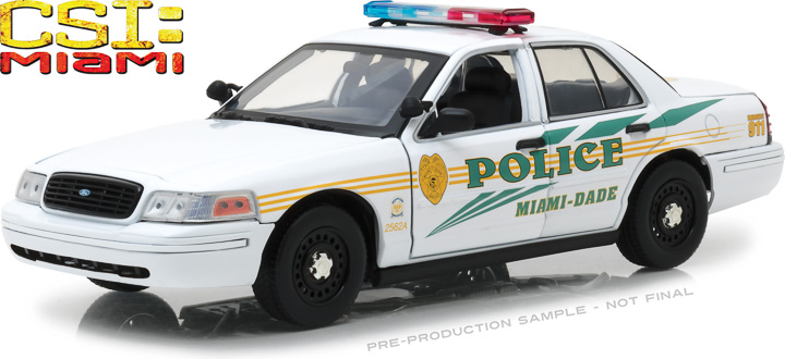 13514 - 1:18 CSI: Miami (2002-2012 TV Series) - 2003 Ford Crown Victoria Police Interceptor Miami-Dade Police