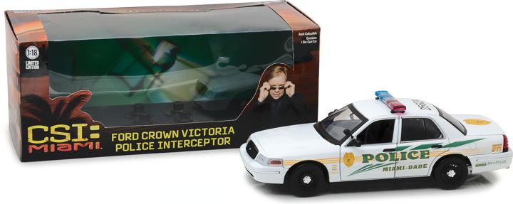 13514 - 1:18 CSI: Miami (2002-2012 TV Series) - 2003 Ford Crown Victoria Police Interceptor Miami-Dade Police