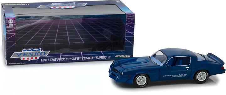 13520 - 1:18 1981 Chevrolet Z/28 Yenko Turbo Z - Blue